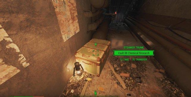Wenn ihr die chemischen Formeln finden wollt, müsst ihr diese Kiste im HalluciGen-Gebäude suchen.