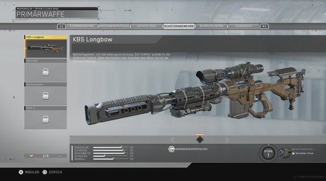 Ein Treffer aufwärts der Hüfte mit der KBS Longbow ist tödlich.