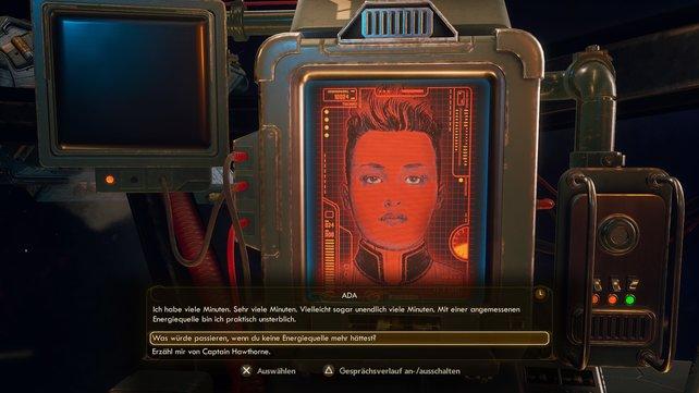 Der Computer ADA an Bord eures Raumschiffes Unreliable, ist euer treuer Wegbegleiter.