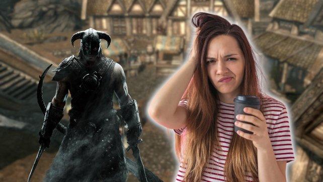Fauler Fan spielt Skyrim, ohne selbst zu schuften. Bildquelle: Getty Images/ franz12