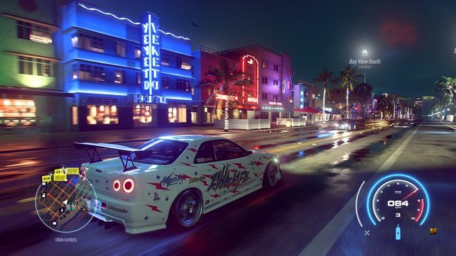 Augenweide bei Nacht: Ein Nissan Skyline darf in Need for Speed: Heat natürlich nicht fehlen.