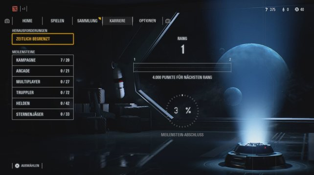 Hier steht noch einiges an Arbeit an! Das Leveln in SW: Battlefront 2 ist aber einfacher, als es auf den ersten Blick scheint.