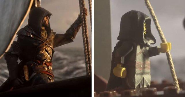 Ezio ist als Lego-Figur immer noch cool, wenn auch etwas blockig.