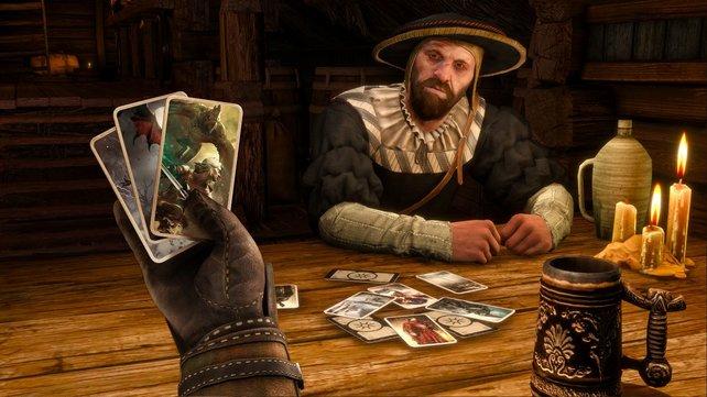 Wenn Geralt nicht gerade Monster jagt, stellt er sich das beste Gwint-Deck zusammen.