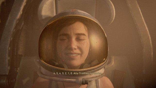 Nehmt einen der Astronautenhelme und betretet die Raumkapsel, sodass Ellie hier ihr Geburtstagsgeschenk erhalten und ihre Fantasy spielen lassen kann.