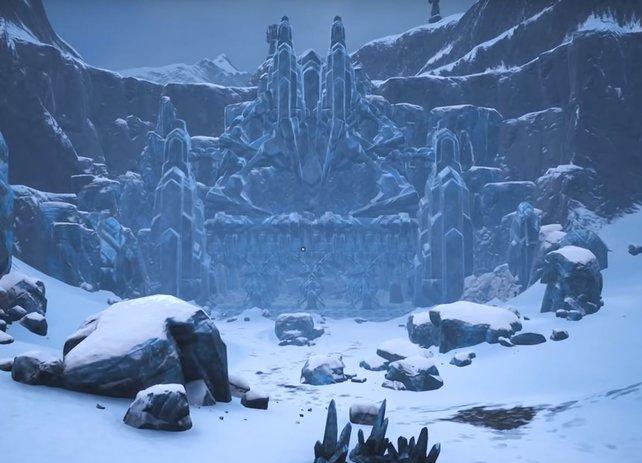Der Tempel des Frosts ist beeindruckend, gefährlich und... lohnenswert. Denn hier findet ihr Ymirs Schmiede.