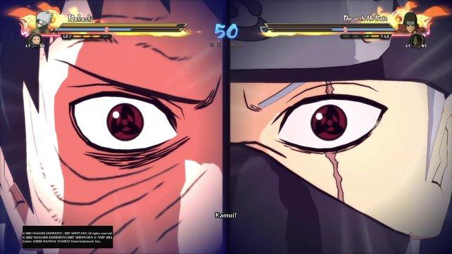Obito und Kakashi führen zusammen ein verheerendes Ultimatives Team Jutsu aus.