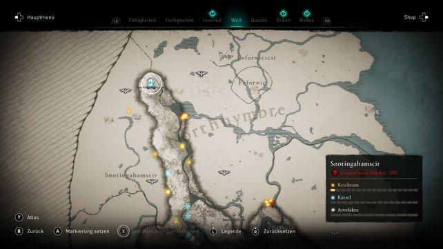 Der fünfte Schatz Britanniens Spat-Höhle zu Deoraby auf der Karte.