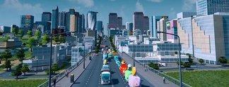 Panorama: verbindet Vater und Sohn durch eine Stadt