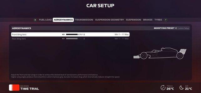 Mit den richtigen Setups könnt ihr das Potenzial eures Autos ausschöpfen.