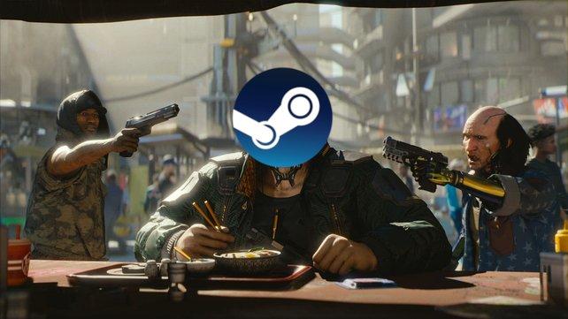 Nicht nur auf den Konsolen sondern auch auf dem PC macht Cyberpunk 2077 kurz nach dem Start Probleme. (Bild: Valve / CD Projekt Red)