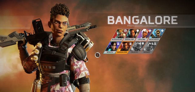 Die Figuren haben verschiedene Skills. Ich habe Bangalore gespielt und Rauchgranaten verschossen.