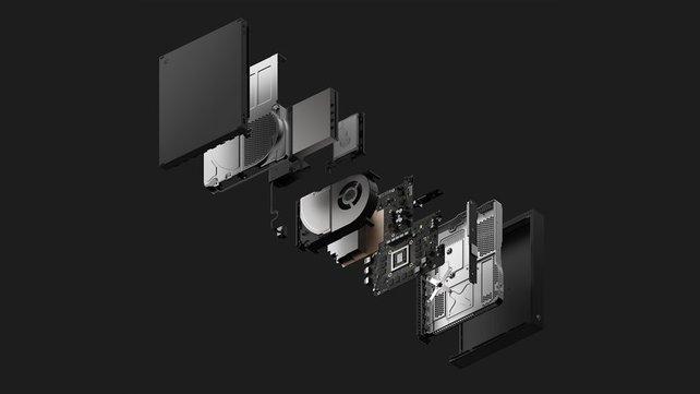 Während die PlayStation 4 Pro sich schnell fiebrig anfühlt, bleibt die Xbox One X dank überarbeiteter Kühlung cool.
