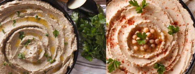 Hummus (links) und Baba Ganoush sehen sich zwar ähnlich, schmecken aber ganz anders.
