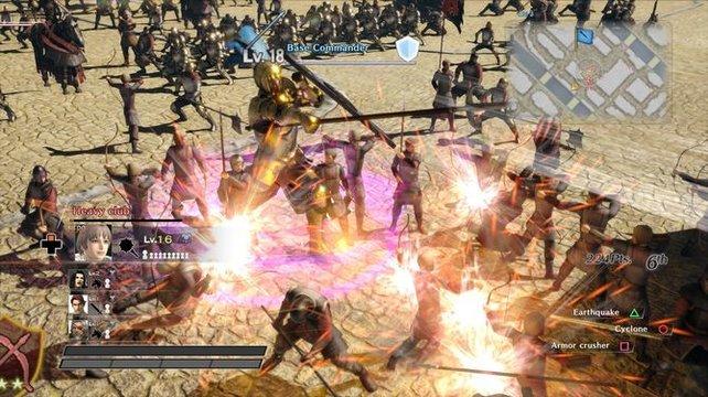 Auf dem Schlachtfeld tummeln sich die Söldner.