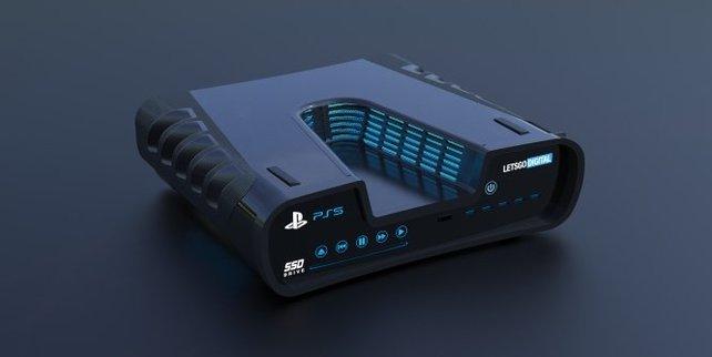 Schnell soll sie sein, die PS5. Hier ist das Dev Kit zu sehen.