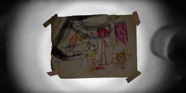 Durchsucht die Küche nach Zeichnungen und ihr werdet diesen Schatz finden.