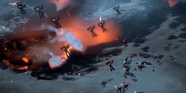 Wenn ihr eure Assault Marines in eine Gruppe feindlicher Infanterie springen lasst, dann wird der Feind betäubt und zurückgestoßen.
