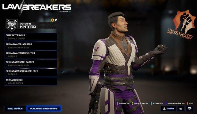 Unser Tipp und Favorit für den Einstieg: Der Veteran in LawBreakers. Ihr spiet Kintaro oder Alex.