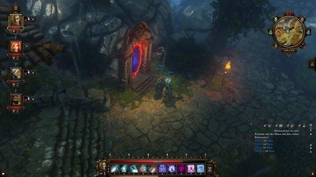 Diese Tore stellen das Schnellreise-System des Spiels dar.