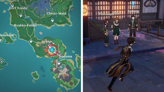 Die Karte zeigt euch den Fundort der fünften Feinschmecker-Quest.