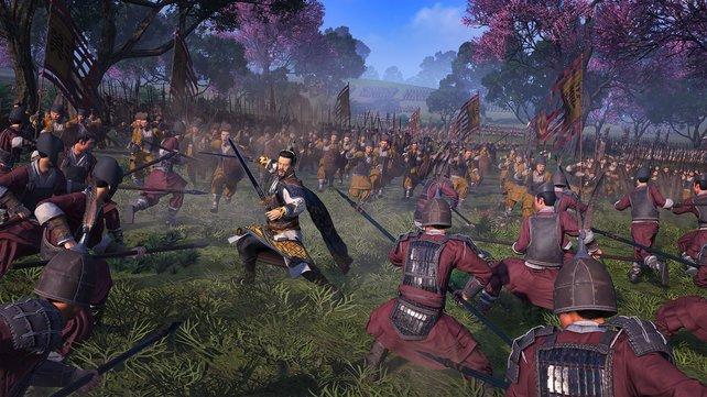 Die Gefechte sind hübsch inszeniert und glänzen durch große Gegnerscharen.