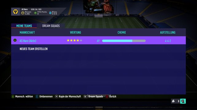 Nützlich bei mehreren Clubs: Die Bezeichnung der Mannschaft müsst ihr manuell ändern.