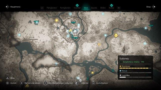 Fliegendes Papier #28 in Eoforwic auf der Karte.