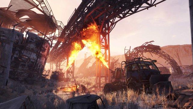 Die Spielwelt erinnert oft an die Kulissen von Mad Max.