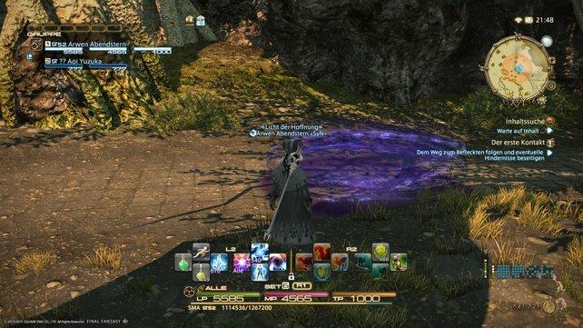 violetter Bereich