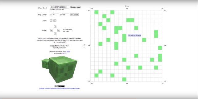 Minecraft: Slime finden ist mit einem Chunkfinder wesentlich einfacher