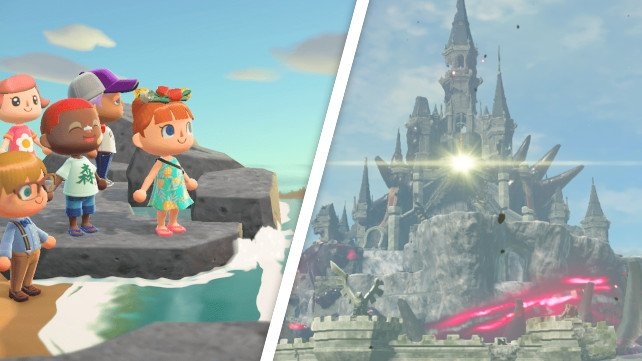Animal Crossing: New Horizons trifft auf Hyrule aus The Legend Of Zelda.