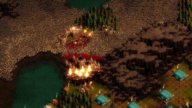 Nach Ablauf des Zeitlimits greift eine gewaltige Horde an.