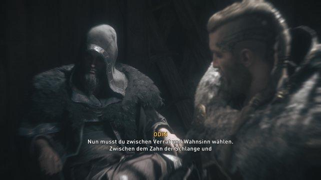 Selbst Odin meldet sich in Eivors Kopf zu Wort, da ihm auffällt, dass Halfdan immer mehr seinen Wahnvorstellungen verfällt.