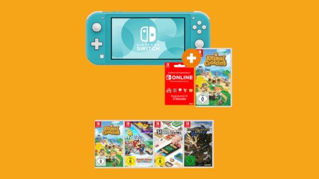 Switch Lite Konsole + 3 Switch-Spiele im Bundle. Ein Spiel ist gratis - Saturn-Aktion Bildquelle: Saturn Produktseite).