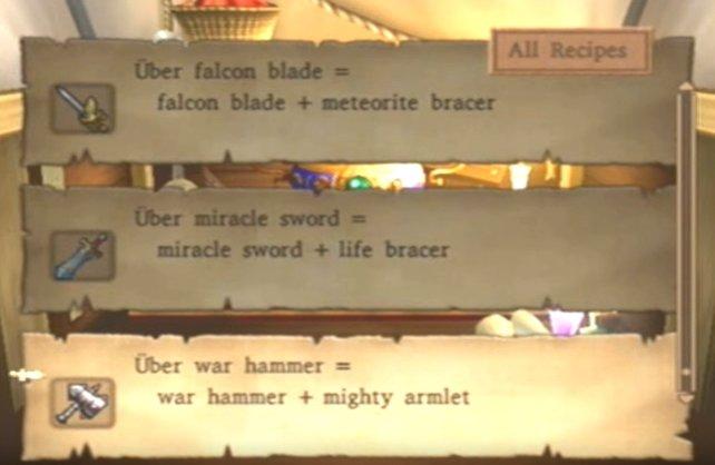 Kombiniert Gegenstände, um die besten Waffen im Spiel herstellen zu können.