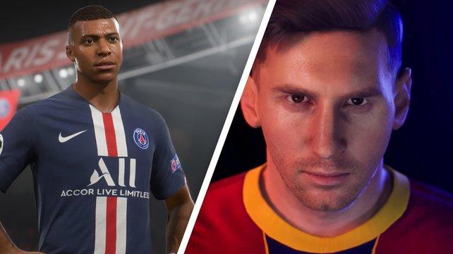 FIFA und PES gehen ab jetzt getrennte Wege. (Bildquelle: EA; Konami)