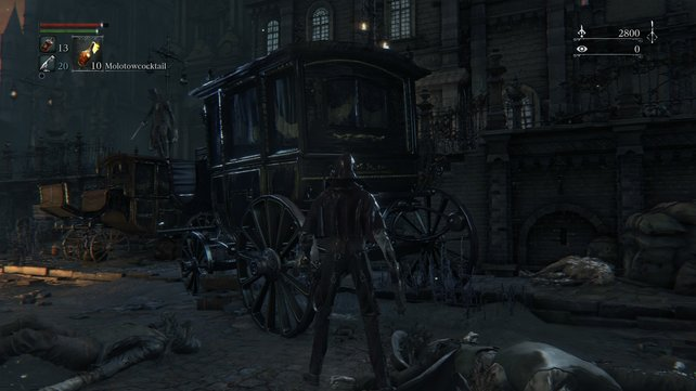 Die Kutsche bietet notwendige Deckung vor den Kugeln des Schützen.