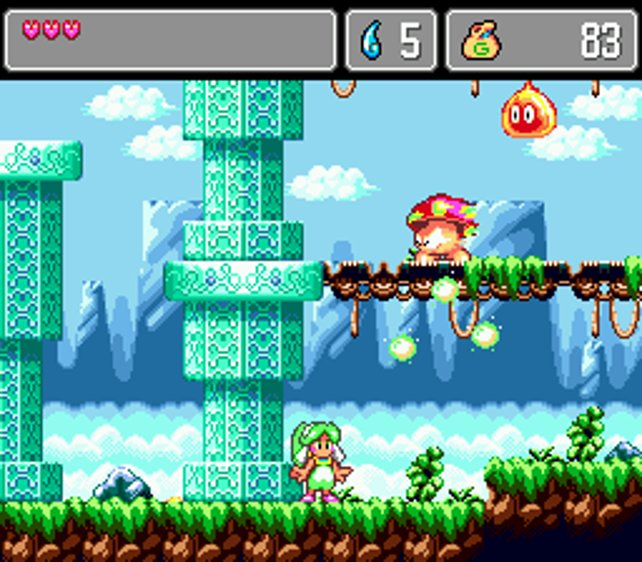 Ashas Welt gehört zu den schönsten, die man je auf dem Mega Drive sah.
