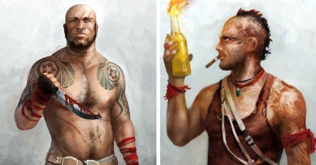 """Frühere """"Far Cry 3""""-Konzeptzeichnungen von Ubisoft könnten als gute Vorlagen für einen älteren Vaas dienen."""