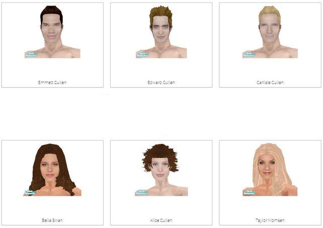 Hier sind einige Twilight-Fans am Werk: Edward Cullen und Co. für Die Sims.