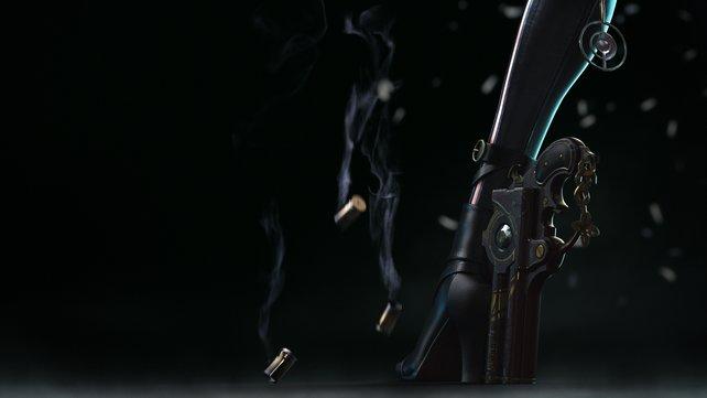 Die moderne Hexe trägt die Knarren gerne als Schuhe - hübsch und tödlich.