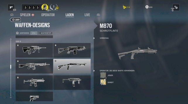 Unterschiedliche Waffensdesigns