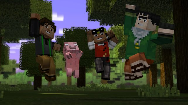 Jesse, Reuben, Olivia und Axel bilden ein echtes Dreamteam.