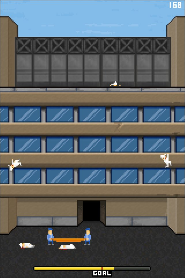 Eine Szene aus dem Spiel, die knallhart auf die Selbstmordserie in den Foxconn Fabriken hinweist.