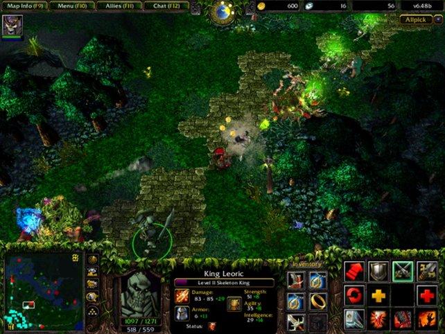 Für Defense of the Ancients benötigt ihr die Warcraft-Erweiterung Frozen Throne.