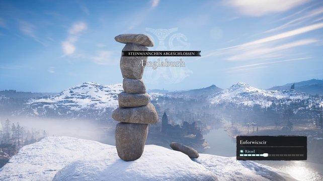 So sieht die Lösung des Steinmännchen-Rätsels in Eoforwicscir aus.