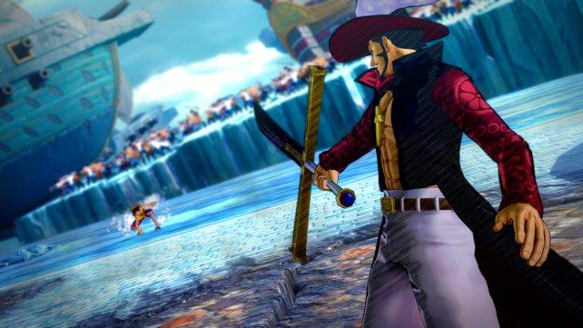 Mihawk Dulacre hat ein besonders großes Schwert dabei.