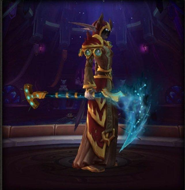 Die Sichel des Zerrütters als Transmogrifikationswaffe bekommt ihr in Antorus, der Brennende Thron, wenn ihr ein wenig Glück habt.