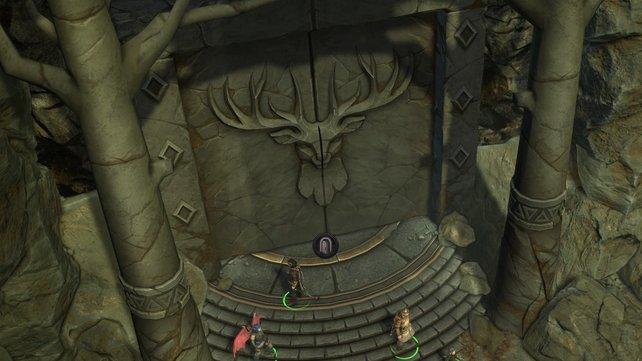 Hinter diesem Tor könnt ihr die Alchemisten- und Schriftrollenschreiber-Ausrüstung ergattern.